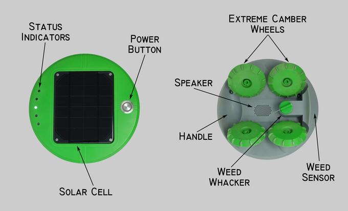 Tertill The Solar Powered Weeding Robot Indiegogo