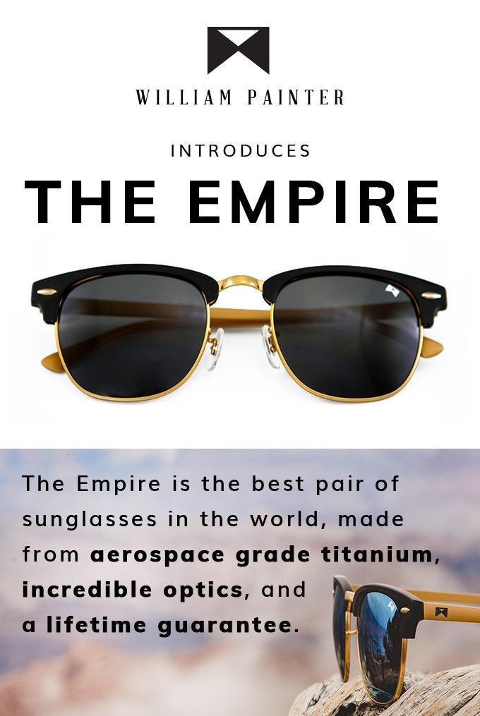 bdaed7ee233 The Empire - Aerospace Grade Titanium Sunglasses