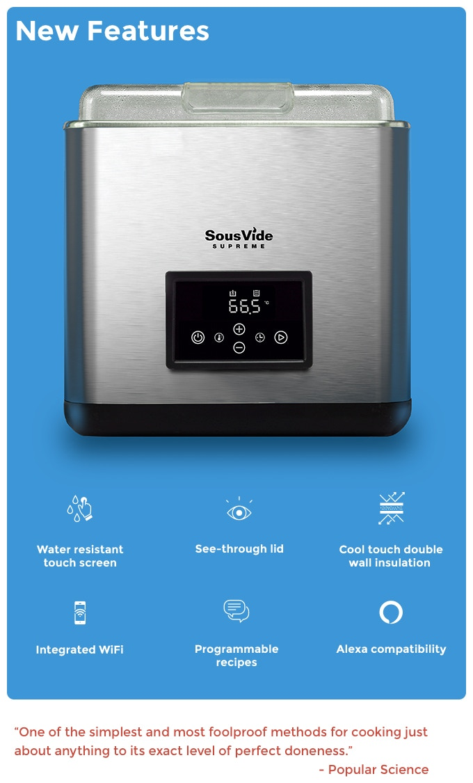 The New Sousvide Supreme Touch Will Have A Similar Look And Feel To Iconic Original But With Some Innovative Upgrades That Make