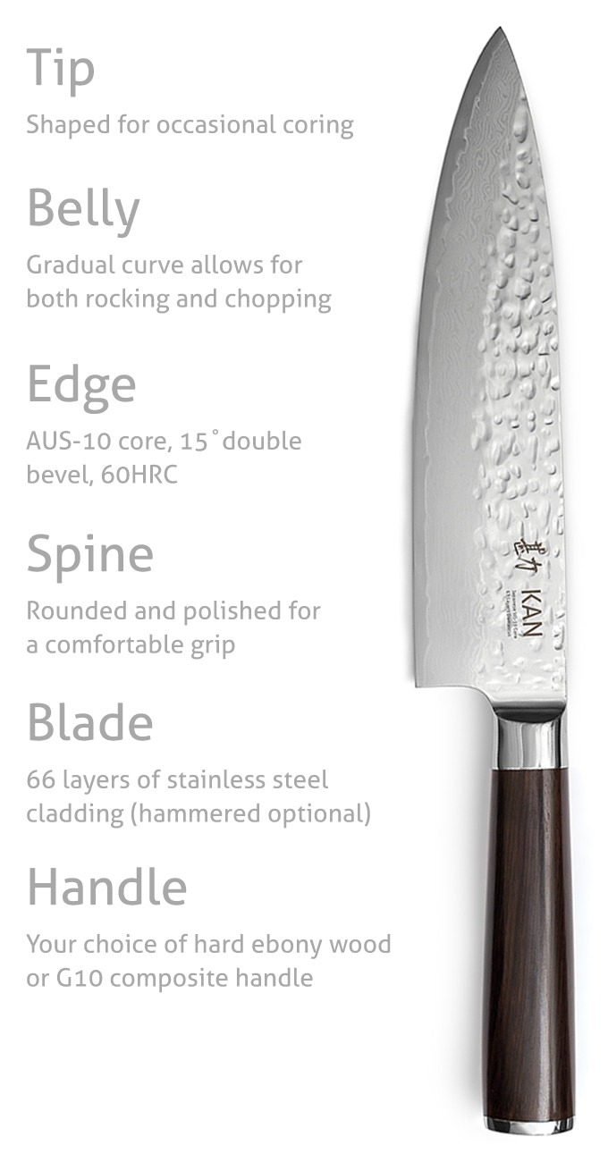 KAN Core Chef Knife: A pro chef knife for everyone | Indiegogo