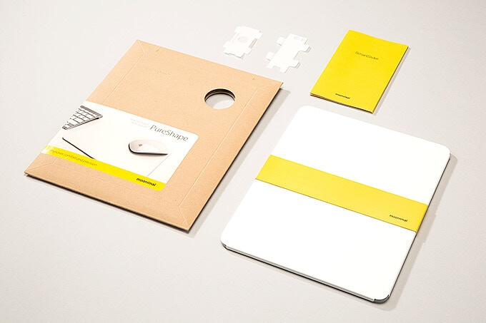 Cardboard envelope and yellow prints...
