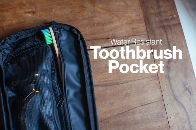 We ve also found this pocket is VERY useful as a very convenient toothbrush  holder while traveling. While hanging your open toiletry bag de21a266a90a3