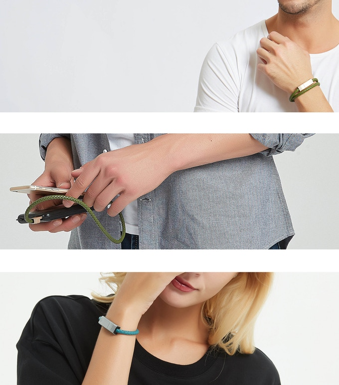 Новый защищённый кабель для зарядки можно носить на руке как браслет