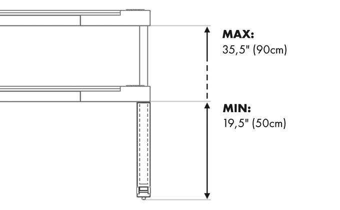 Standard legs dimensions