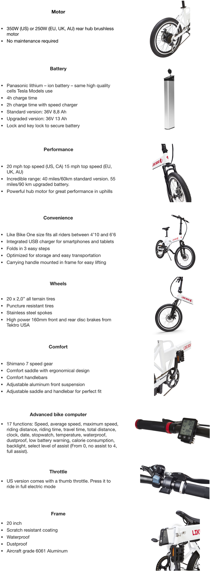Like Bike The Coolest And Most Affordable Ebike Indiegogo Advanced Bicycle Lightings Dimensions