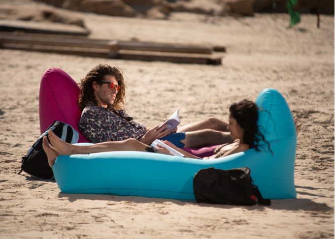 AirThrone. The Air-Lounger That Inflates By Phone
