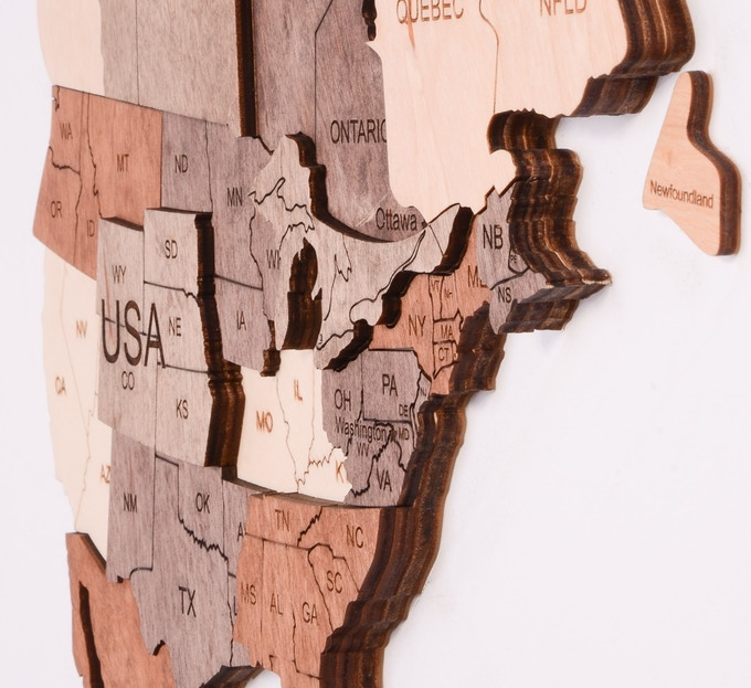 3d Map Of Air Canada Centre.World S First 3d Wooden World Map Indiegogo